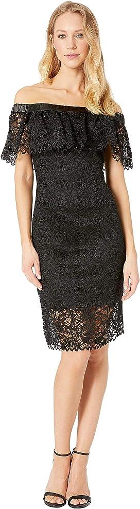 006f978f3c0 Bebe Asymmetrical Lace Dress w  Diagonal Hem at 6pm