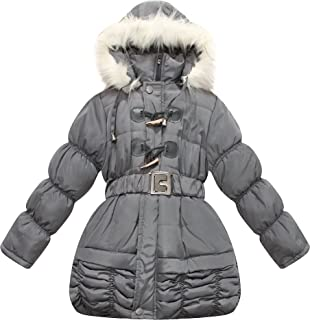 Richie House Little Girls Floral Padded Jacket RH0758