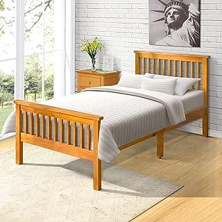 "Harper&Bright Designs Wood Platform Bed, 80.3""L X 42.5""W X 29.5""H, Oak"