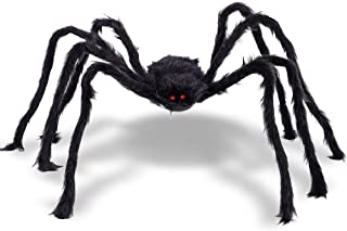 Figoal 6.7 FT Gigantic Halloween Spider Halloween Decorations Huge Virtual Realistic Hairy Spider Halloween Outdoor Decoration
