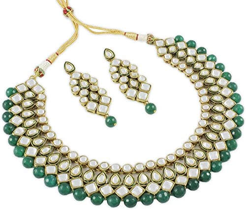 Royal Kundan Traditional Jewellery Necklace Set For Women Black 7818s