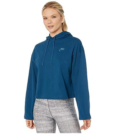 Nike NSW Hoodie Jersey (Valerian Blue/Valerian Blue) Women