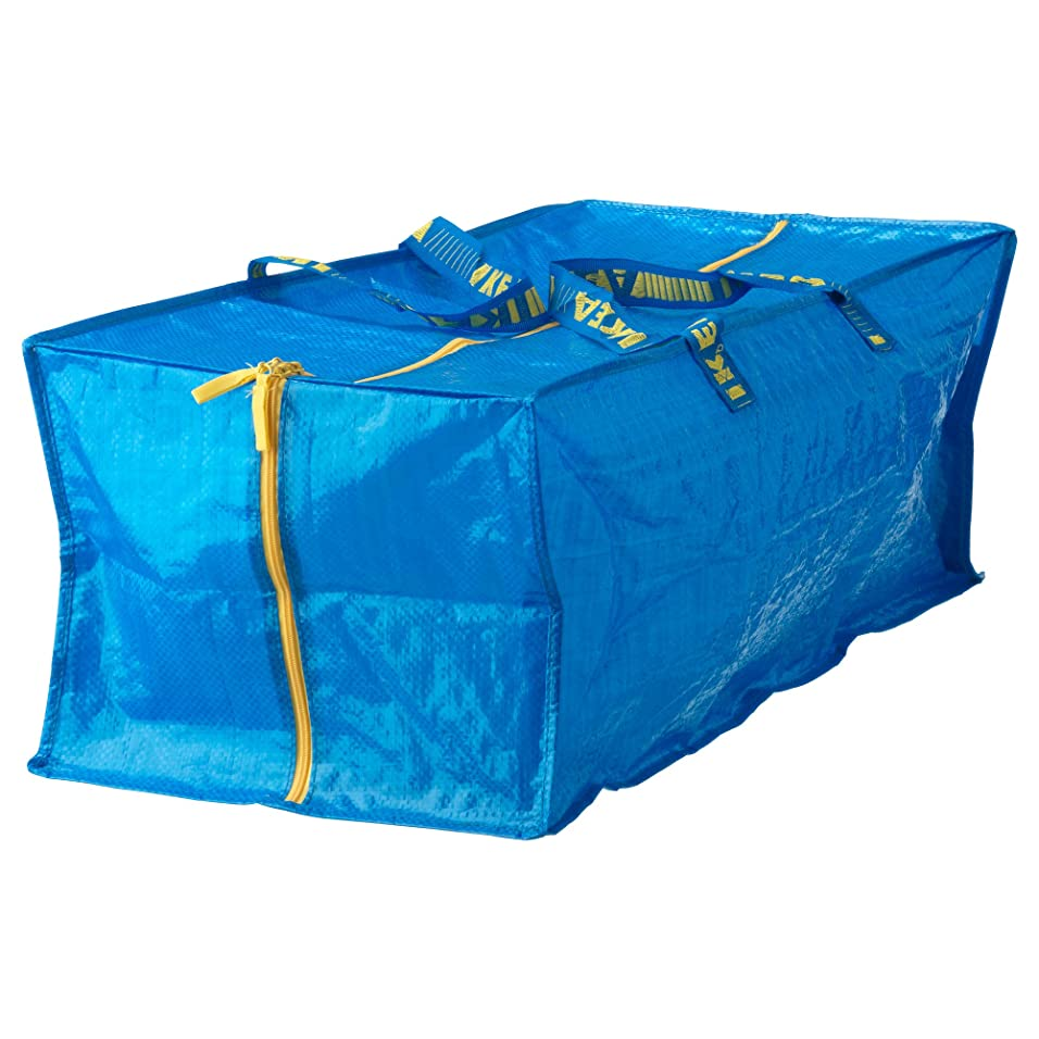 露出度の高いウィスキーキャッチ[イケア]IKEA FRAKTA  トロリー用バッグ ブルー(90161989)