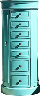 Hives and Honey Bailey Jewelry Armoire, Turquoise
