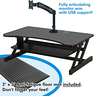 Lorell 99759 Sit-To-Stand Desk Riser, 37