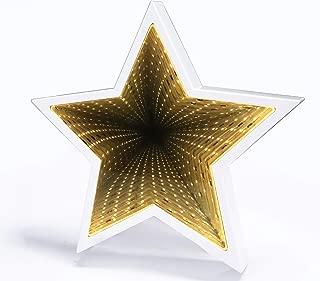 SUNTRA LED Infinity Tunnel Lamp 3D Star Shaped Plastic...