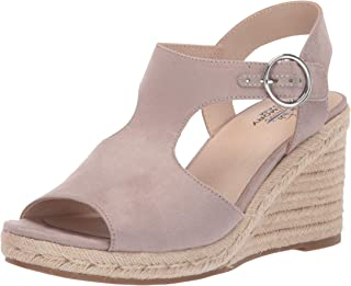 LifeStride Women's TYRA Wedge Sandal, Griege, 6.5 W US