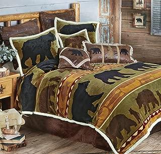 BLACK FOREST DECOR Bear Cabin Plush Bed Set - King