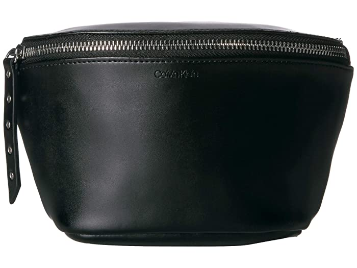 Calvin Klein Belt Bag, Small Eyelets on Strap (Black) Women