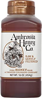 Ambrosia Pure Raw Honey by Ambrosia Honey Co., 16 Ounce Bottles (Pack of 4) - PACKAGING MAY VARY