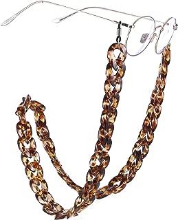 EUEAVAN Leopard Stripe Fashion Twist Link Acrylic Eyeglass Chain Marble Texture Sunglasses Holder Eyewear Retainer Strap for Women