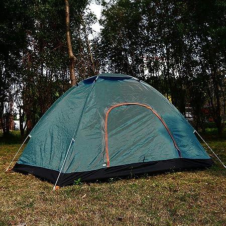 Yinxi ワンタッチテント 2人用 サンシェードテント キャンプ タープ ポップアップ ダブルドア メッシュスクリーン付 大空間 軽量 防水 設営簡単 紫外線防止 折りたたみ アウトドア用品 キャンプ 海 運動会 登山用