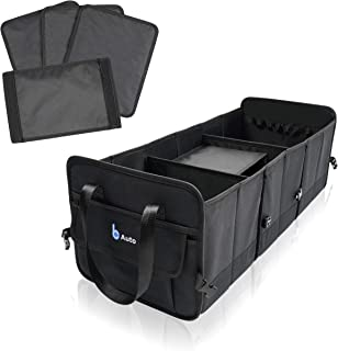 BCAuto Organizador de Maletero XXL Plegable, tamaño Ajustable Oxford 600 D Negro