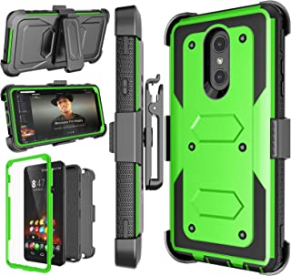 LG Stylo 4 Case, LG Q Stylus Holster Clip, Njjex [Nbeck] Shockproof Heavy Duty Built-in Screen Protector Rugged Locking Swivel Belt Clip Kickstand Hard Phone Cover for LG Styus 4/Stylo 4 Plus [Green]