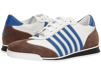 DSQUARED2 New Runner Sneaker (White/Blue/Military) Men