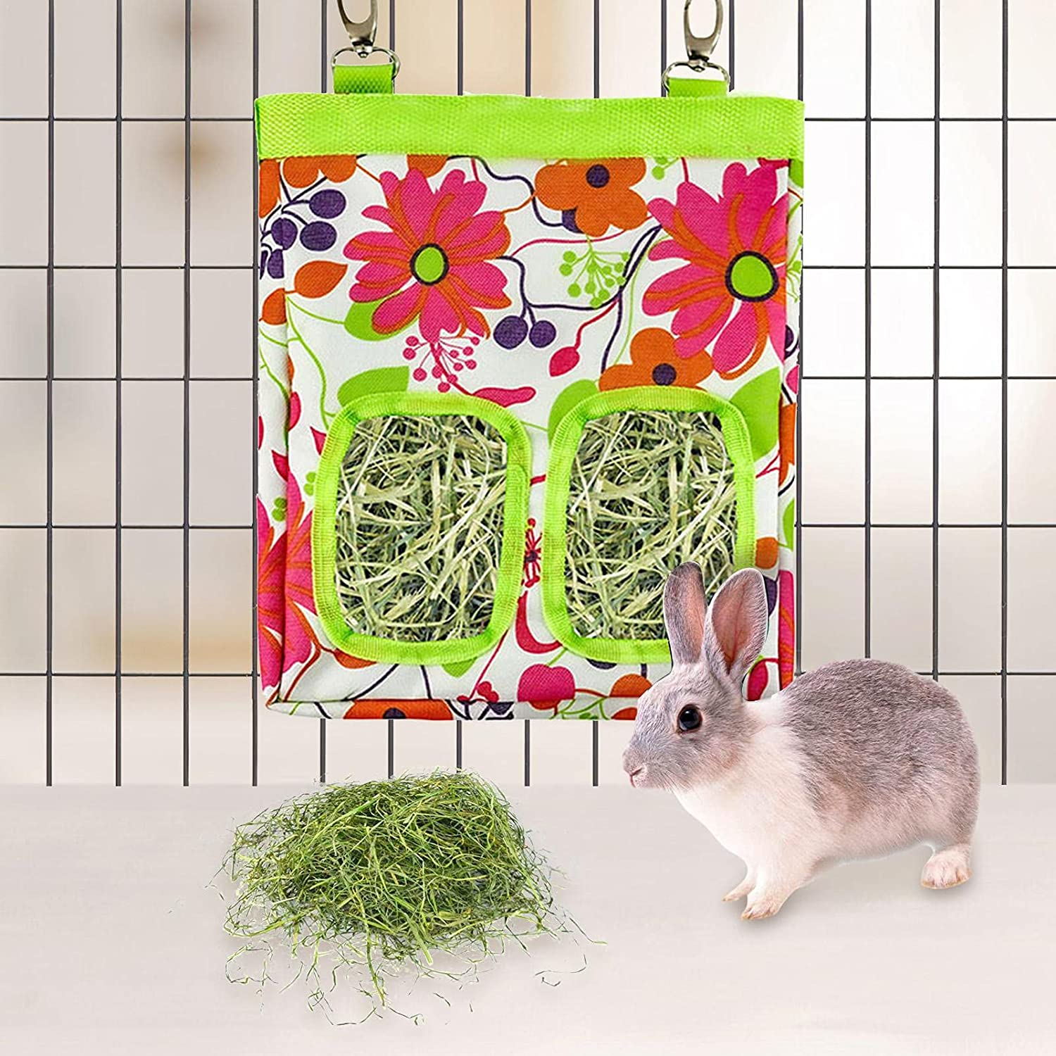 MTAPH Rabbit Feeding Bag Ranking TOP16 Guinea Pig Under blast sales 2 Holes Small with Hay