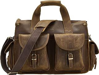 BRASS TACKS Leathercraft Men's Genuine Leather Messenger Bag 12