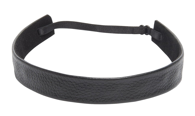 1907 Pebbled Leather Wide Headband, NHH028