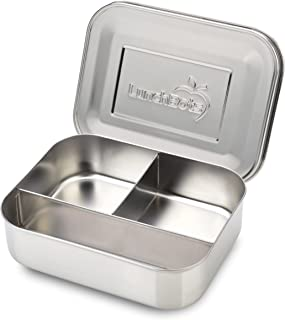 LunchBots Trio Stainless Steel Food Container - Three Section Design Perfect for Healthy Snacks, Sides, or Finger Foods On The Go - Eco-Friendly, Dishwasher Safe and BPA-Free - All Stainless