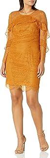 فستان Nanette Nanette Lepore دانتيل واسع للنساء مع تفاصيل مكشكشة