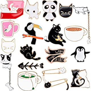 20 Pieces Cute Enamel Lapel Pin Set Cartoon Brooch Pin Badges Brooch Pins for Clothing Bags Jackets Accessory DIY Crafts (Style Set 3)