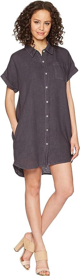 Short Sleeve Button Front Dress