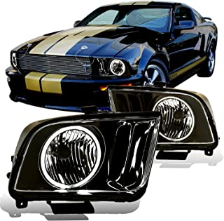 AmeriLite Headlights Black (CCFL Halo) for Ford Mustang - Passenger and Driver Side