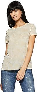 VERO MODA Women's Plain Regular Fit Top (200436701_Oatmeal_XL)