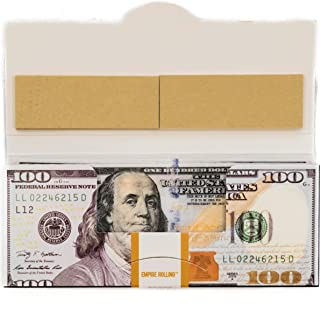 EMPIRE ROLLING - 1 Wallet $100 Bill Rolling Paper (20 Papers) - Benny 1 3/4 Inches | Made from Pure All Natural Ingredients | Premium Quality Paper, Organic, 100% Vegan, Non-GMO, Unbleached