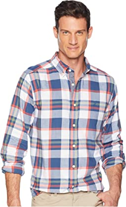 Long Sleeve Brush Twill Plaid Woven Shirt