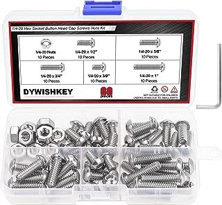 DYWISHKEY 60 Pieces 1/4-20 x 3/8
