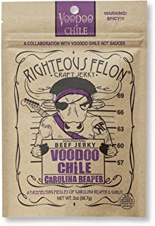 Righteous Felon Craft Beef Jerky (Voodoo Chile, Pack of 1)