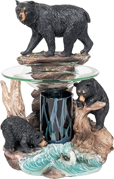 Bear Polyresin Oil Warmer With Dimmer
