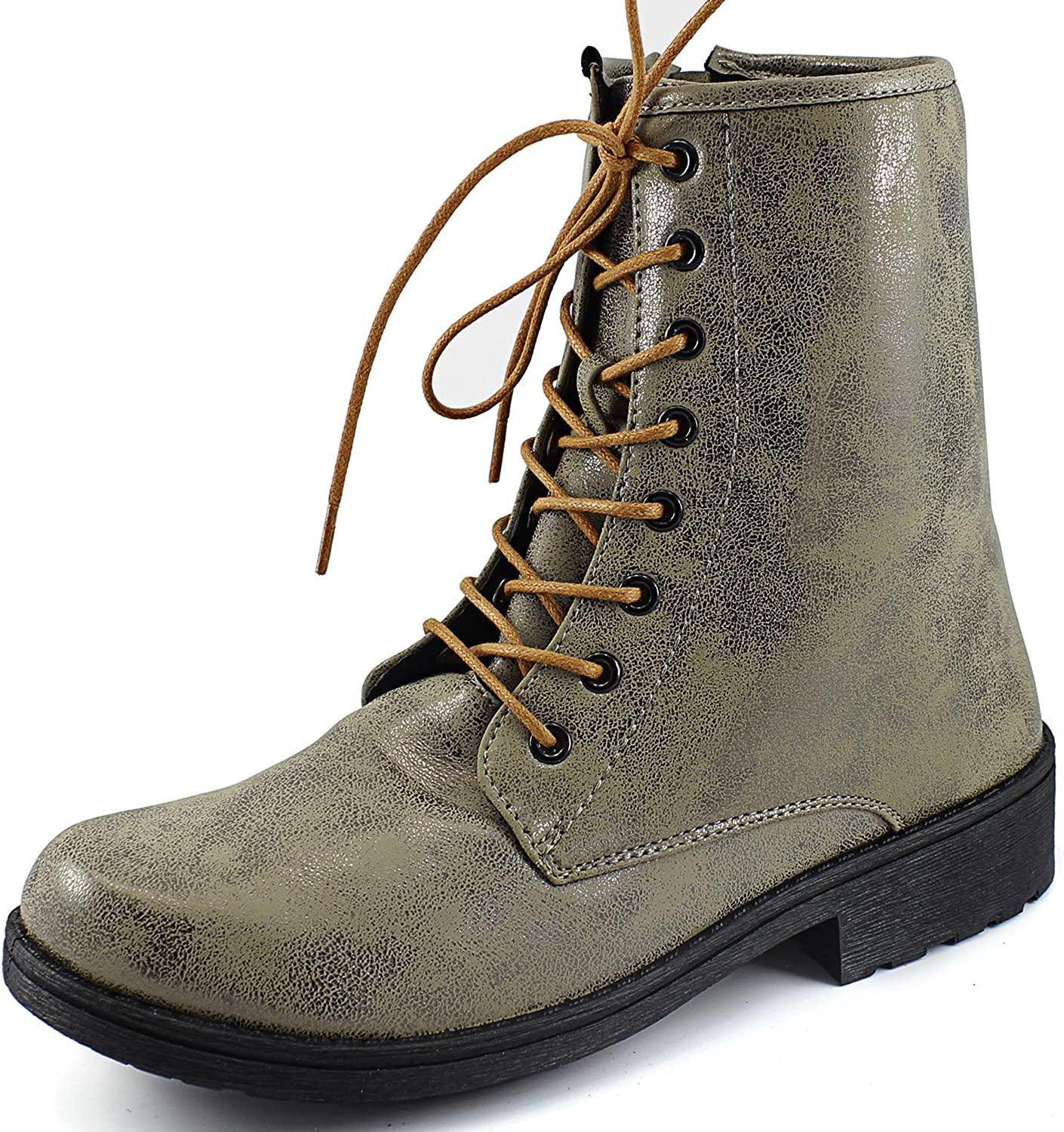 Women's Qupid Missile-04 Military Up Bootie Taupe Brz
