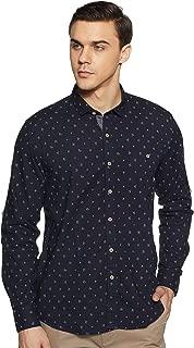 CHEROKEE Men's Printed Regular fit Casual Shirt (400018197509_Black 2XL)