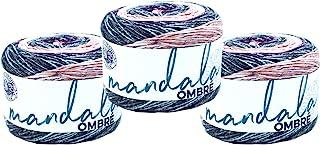(3 Pack) Lion Brand Yarn Mandala Ombre Yarn, Felicity