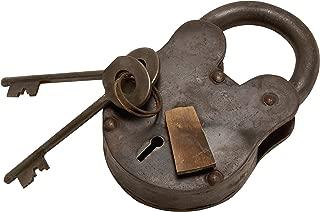 Deco 79 01103 Metal Brass Lock & Keys 2
