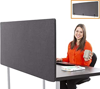 Stand Steady ClipPanels Desk Mounted Privacy Panels | Height Adjustable Desk Divider| Easy Clamp on Privacy Screen or Modesty Panel - Reduces Up to 85% of Noise | (Gray / 60