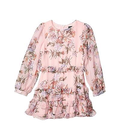 Bardot Junior Henri Frill Dress (Big Kids) (Pink Floral) Girl