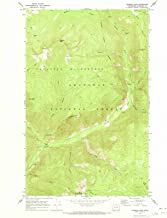 Washington Maps - 1969 Coleman Peak, WA USGS Historical Topographic Map - Cartography Wall Art - 44in x 55in