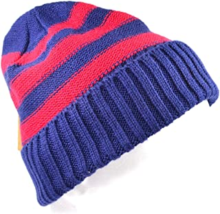 71115f8f555 Urban Pipeline Blue Red Striped Winter Watch Hat Beanie for Men