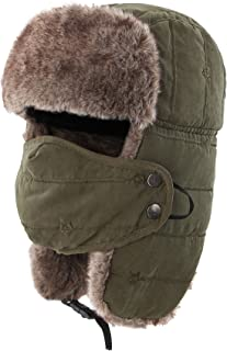 ce713583b64f5 Connectyle Warm Trapper Hat Windproof Winter Russian Hats with Mask Ushanka  Hat