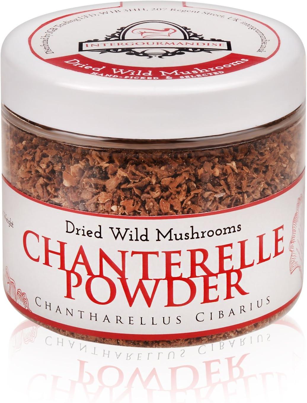 Chanterelle Powder 2.8 oz. 80 gr Popular brand in Same day shipping the world Vegan Plastic jar Veg