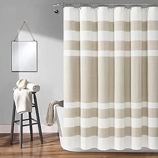 Lush Decor Cape Cod Stripe Yarn Dyed Cotton Shower Curtain, 72
