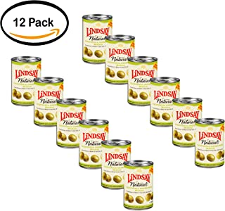 PACK OF 12 - Lindsay Naturals California Green Ripe Olives 6 Oz Pull-Top Can