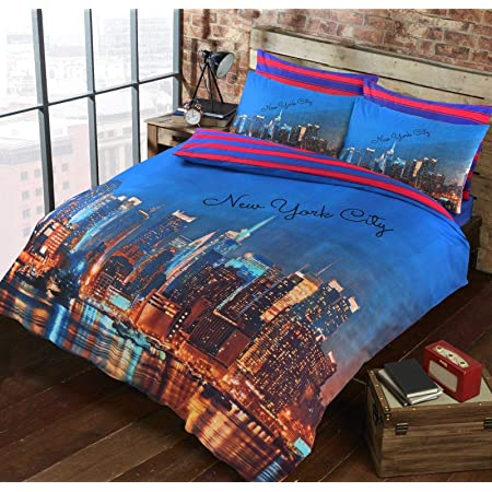 New York Patchy Grey Luxurious Duvet Covers Quilt Covers Reversible Bedding Sets