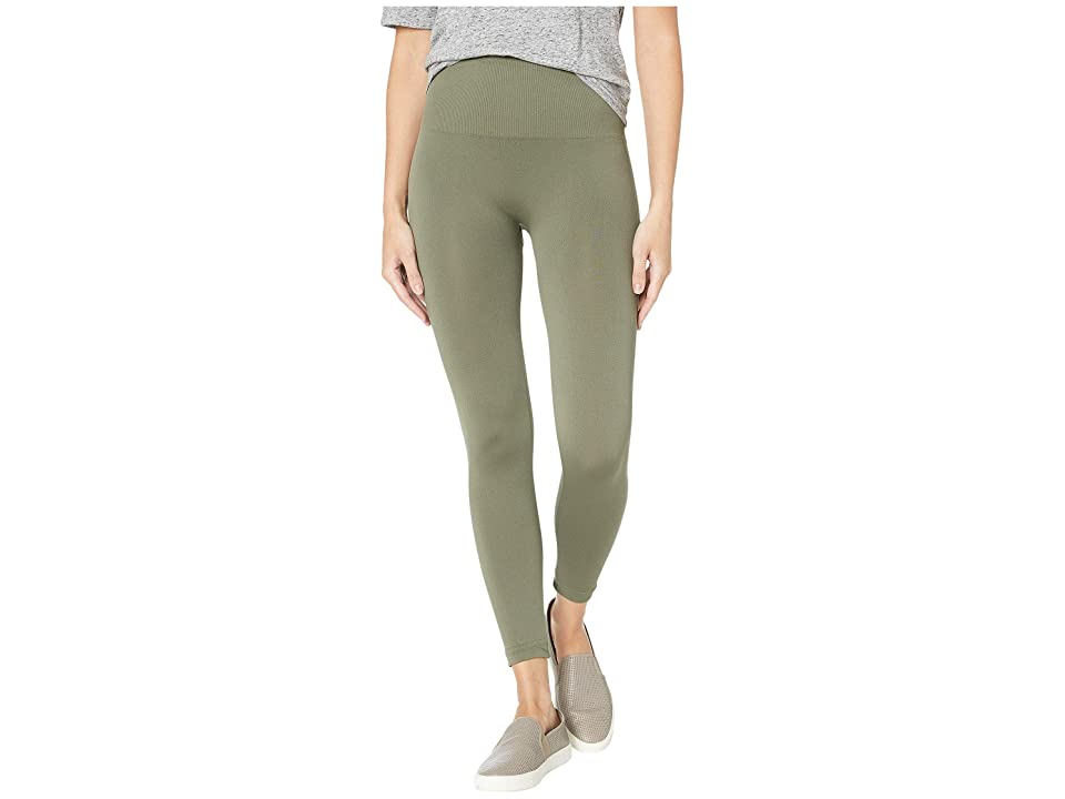 Spanx Look At Me Now Cropped Leggings (Olive Green) Women