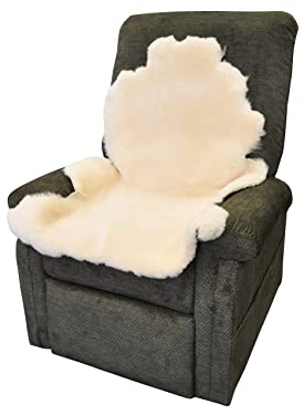 Blue Jay Soft N Plush Real Sheepskin - Natural Decubitus Prevention Pad, Real Natural Sheep Wool Provides Natural Warmth in the Cold, Approximately 6-7 Square Feet, Ivory, Pressure Relief Pad