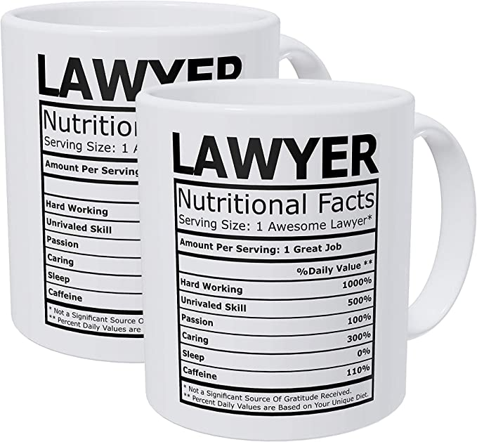 Willcallyou Pack of 2 Lawyer Attorney Nutritional