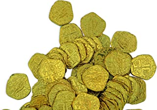 Lot of 100 Toy Shiny Gold Pirate Treasure Coins for Larper